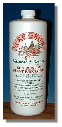 Sure Grow Sun Screen Plant Protector - Shipping - 4 lbs