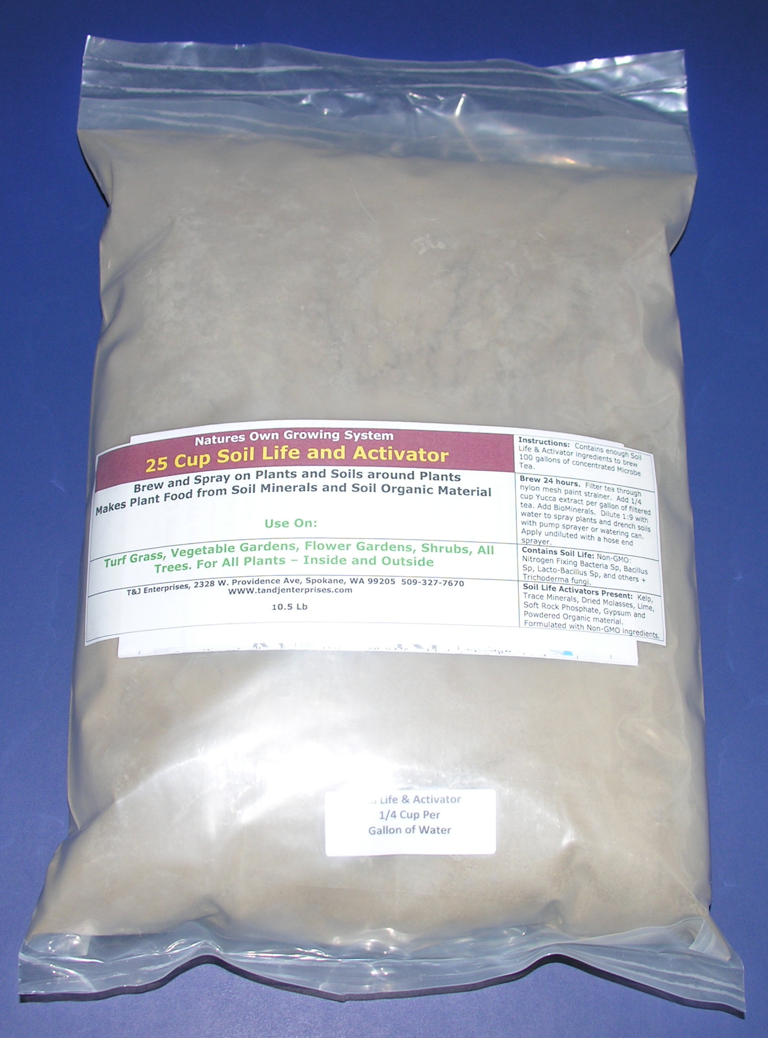 25 cup Microbe Tea Soil Life and Activator - Shipping 12 Lbs