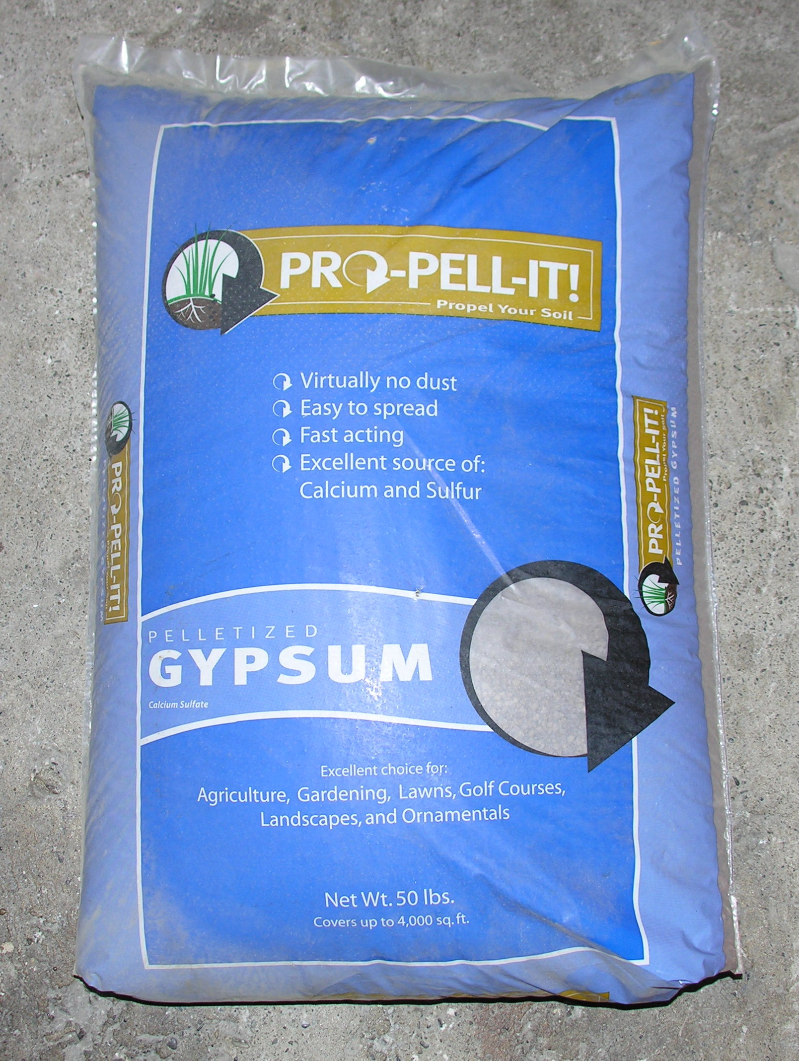 Pro Pell It Pelletized Gypsum 50 lbs