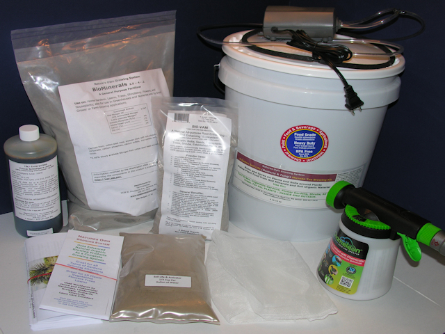 Organic Garden Kit - 5 gallon Brewer version - for 4,800 square foot garden or less