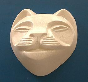 "5 oz Cat Face White Gold bar soap.  Our cat has an ""attitude"".  Great for display or functional use."